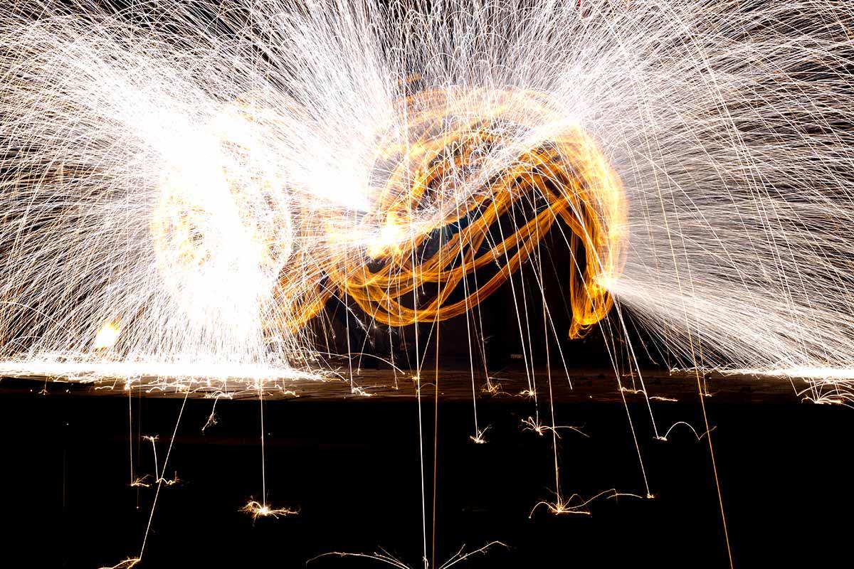 Feuerwerke für Stadtfeste