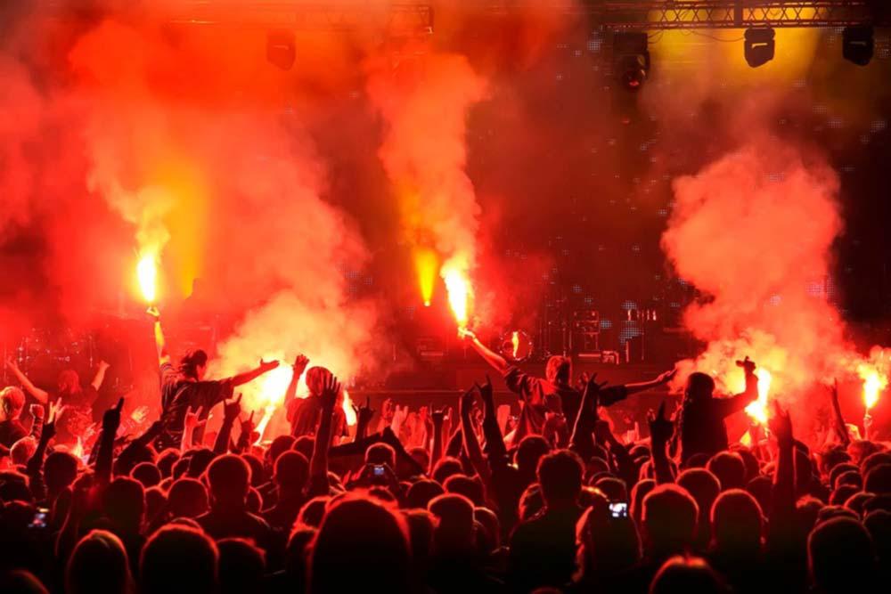 Feuershow - Pyromondo am Bodensee
