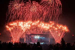 Feuerwerke und Feuershows für Bühne und Events