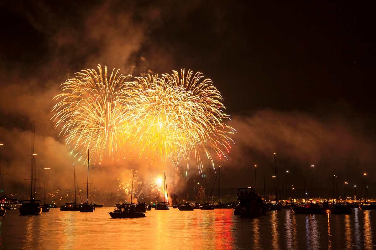Feuerwerk Seenachtfest in Konstanz am Bodensee